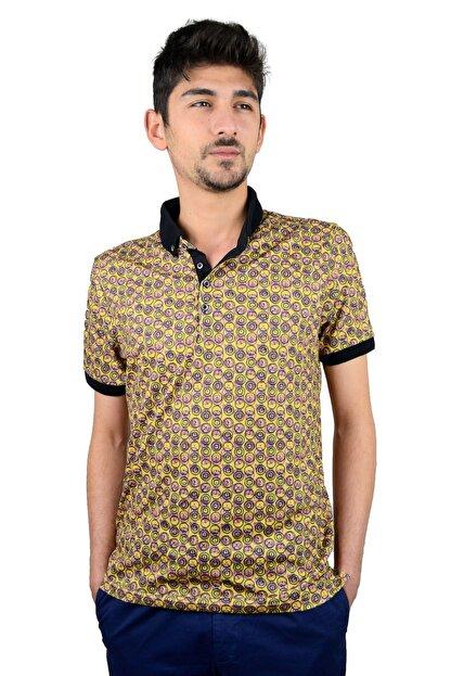 Mcr Polo Yaka T-shirt Renkli Yuvarlak Model 36516