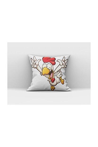 Cango Home Bağıran Tavuk Çocuk Yastık Kırlent Kılıfı