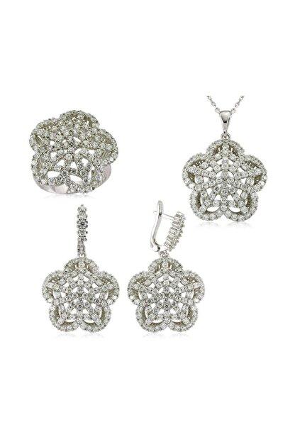 Gumush Gümüş Çiçek Kadın Set