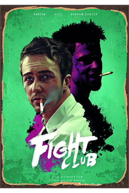 Marple's Fight Club Ahşap Rustik Poster