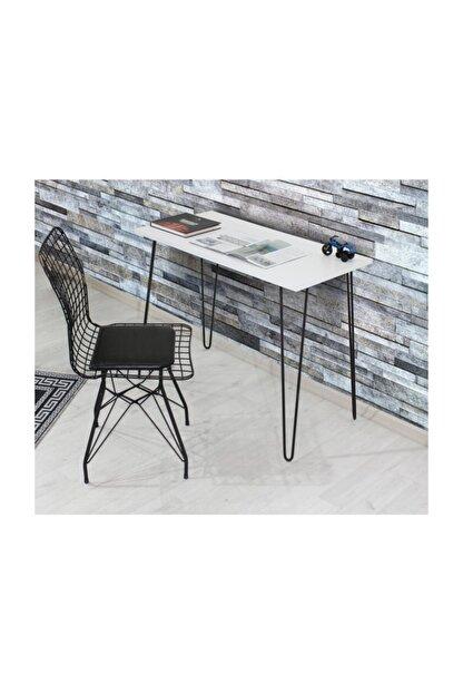Chic Life Muscida Metal Ayaklı Çalışma Masası Beyaz 110x70 cm