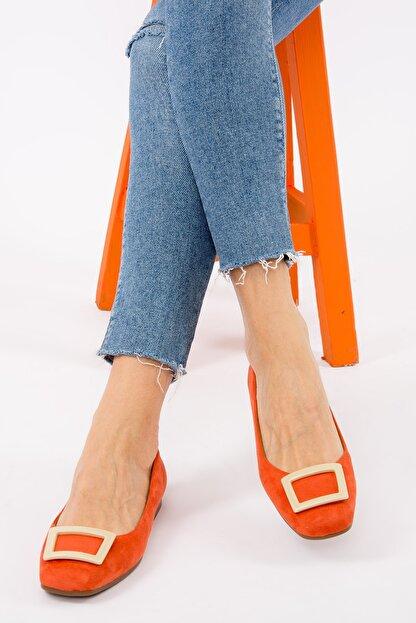 Fox Shoes Turuncu/Ten Kadın Babet H726452002