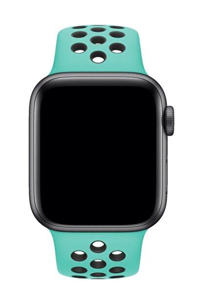 Melefoni Apple Watch 44 mm Spor Delikli Kordon Silikon Kayış