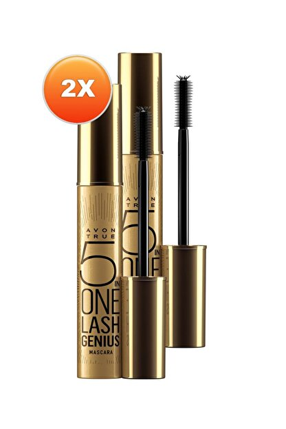 Avon True Lash Genius Maskara 10 ml Blackest Black İkili Set