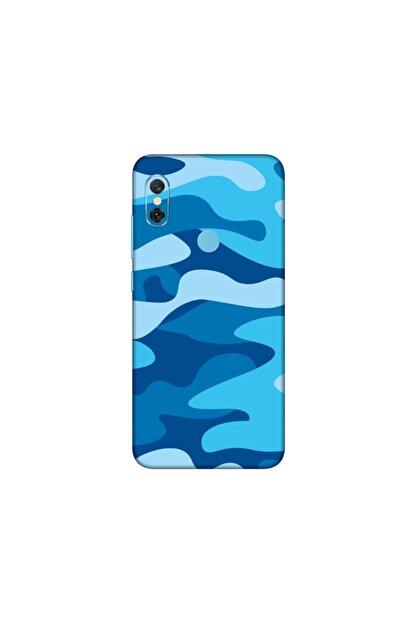 KAPAK OLSUN Xiaomi Mi Note 6 Pro Mavi Kamuflaj Telefon Kaplaması