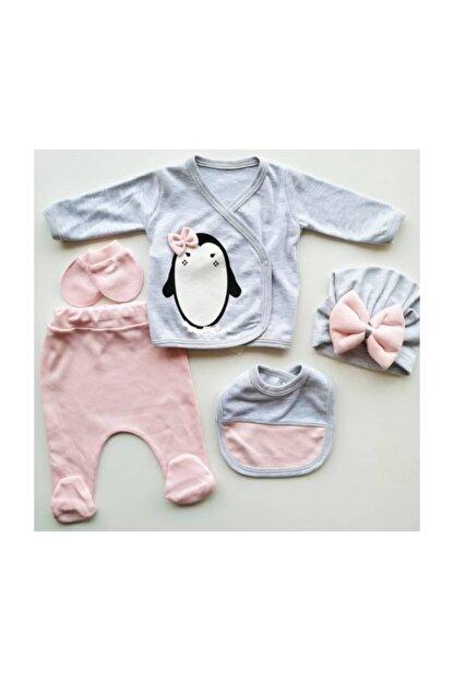 Nonna Baby Kız Bebek 5 Parça 0-3 Ay Hastane Çıkışı Seti 5651