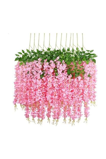 Nettenevime Sarkan Yapay Çiçek Akasya Pembe 80 Cm 3 Sarkan Dallı 12 Adet Bağ
