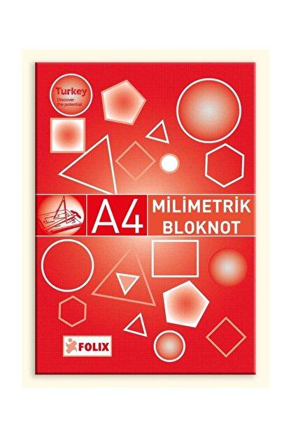 Etika Milimetrik Teknik Resim Bloknot A4 Kırmızı 30 Yaprak 6 Ad.