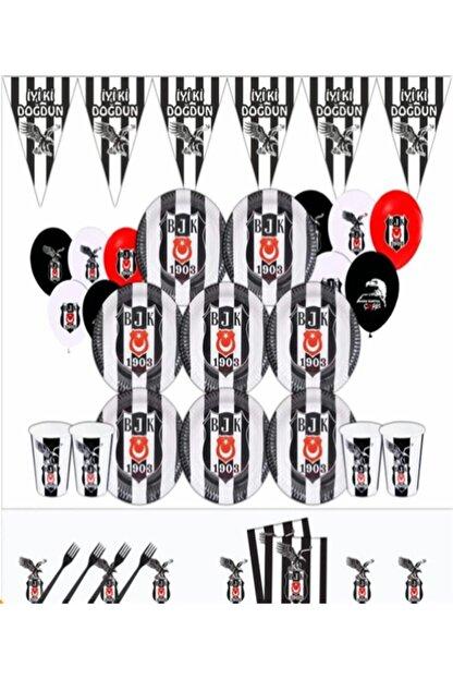 Ece Beşiktaş Kara Kartal Doğum Günü Parti Malzemeleri Süsleri Seti 40 Kişilik