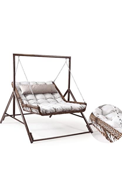Capri swing Capri Bed Çiftli Raddan Bahçe Balkon Salıncağı