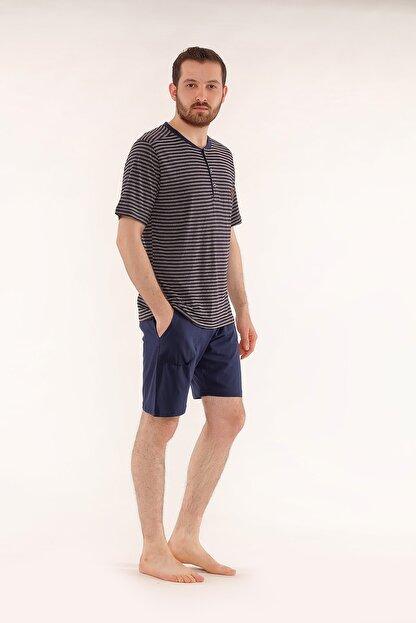 Pelin  Şortlu Lacivert Erkek Pijama Takımı