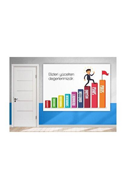 Okulposteri Değerlerimiz Duvar Posteri (100x140 Cm Branda)