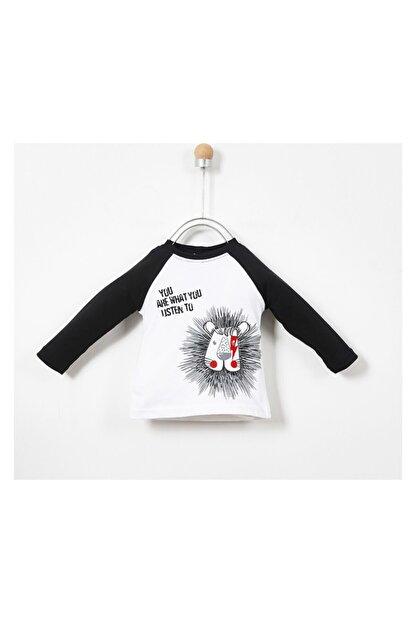 Panço Erkek Bebek Beyaz Uzun Kollu T-shirt 19217083100