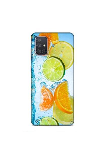 Pickcase Samsung Galaxy A71 Kılıf Desenli Arka Kapak Limonlar