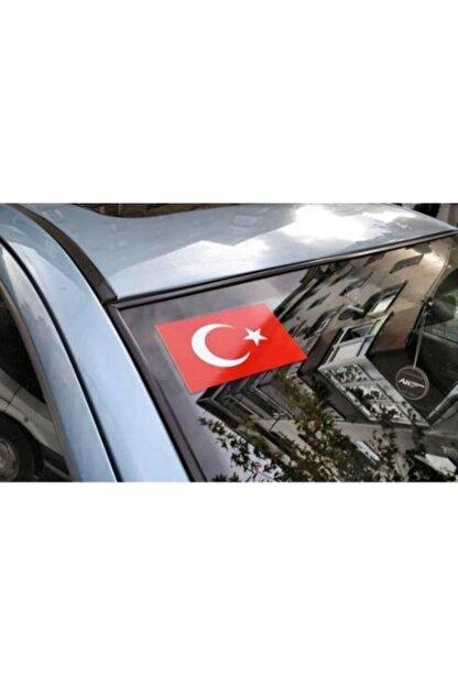 Apex Türk Bayrağı Ön Cam Sticker Yapıştırma Etiket 12x8cm