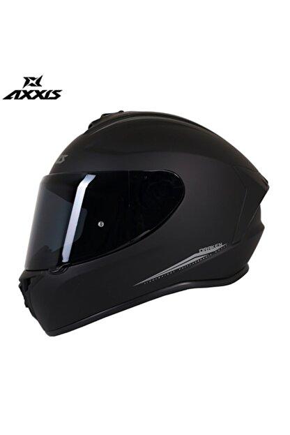 AXXIS Drakan Mat Black Full Face Şeffaf Vizör Kask