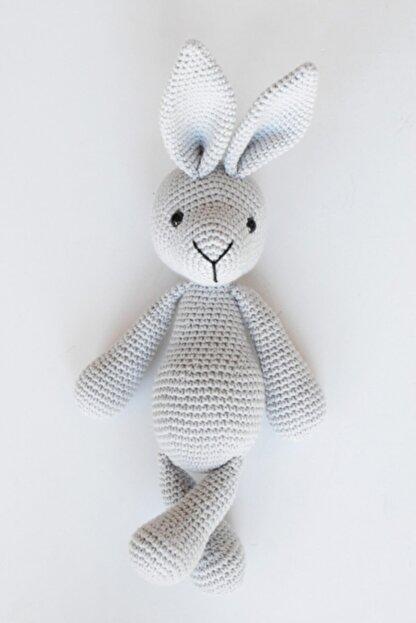 Enjoymydesign Gri Doğal Tavşan Oyuncak 35 cm Uyku Arkadaşı