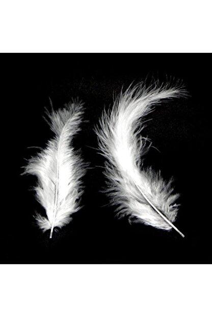 araget Kuş Tüyü Beyaz Renk 100 Adet