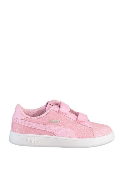 Puma SMASH V2 GLITZ GLAM Pembe Kız Çocuk Koşu Ayakkabısı 100662836
