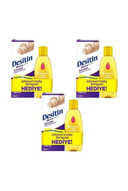Desitin Mor Ekstra Pişik Kremi 75 Ml 3 Adet + Şampuan 50ml Hediyeli 3 Adet