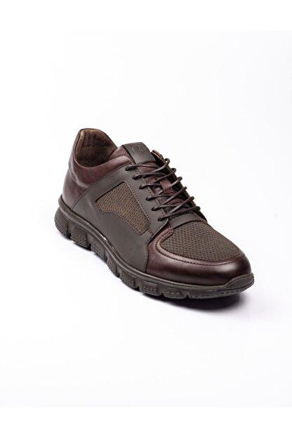 Libero 3599 Faylon Kahverengi Deri Erkek Günlük Ayakkab Kahverengi-42