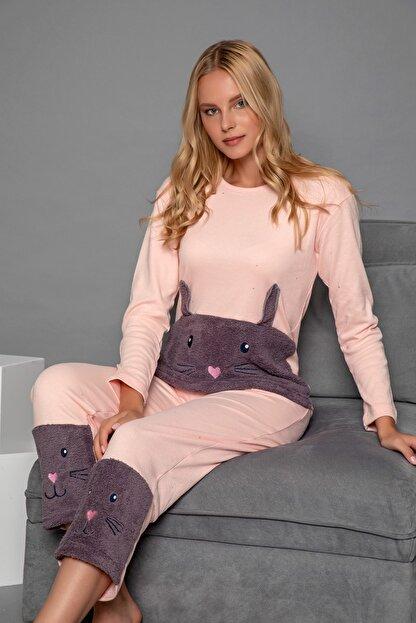 Strawberry Kadın Somon Pamuklu Interlok Pijama Takimi