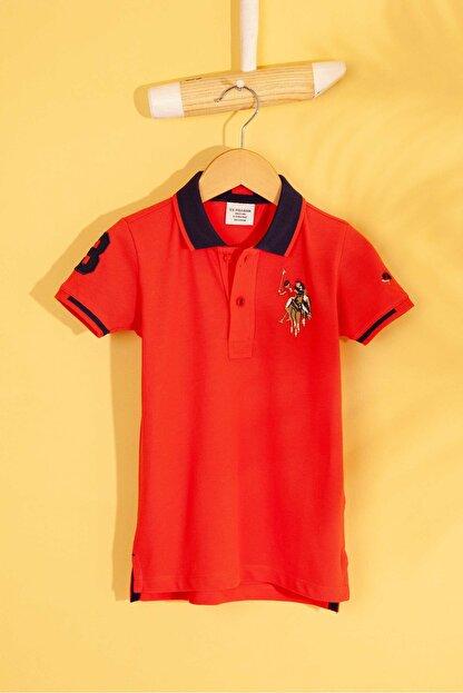 US Polo Assn Kirmizi Erkek Çocuk T-Shirt Basic