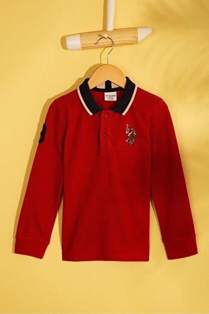 US Polo Assn Turuncu Erkek Çocuk Sweatshirt