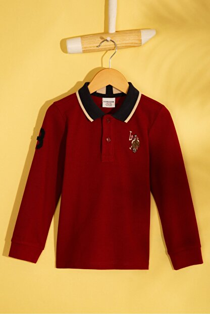 US Polo Assn Kirmizi Erkek Çocuk Sweatshirt