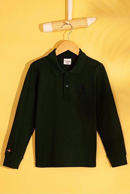 US Polo Assn Yesil Erkek Çocuk Sweatshirt
