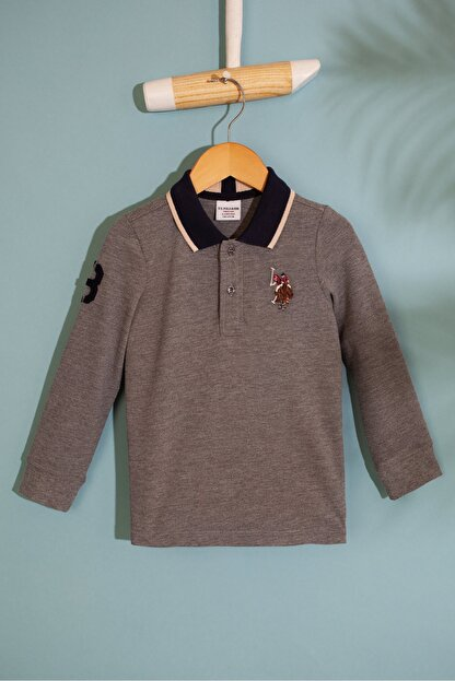 US Polo Assn Gri Erkek Çocuk Sweatshirt