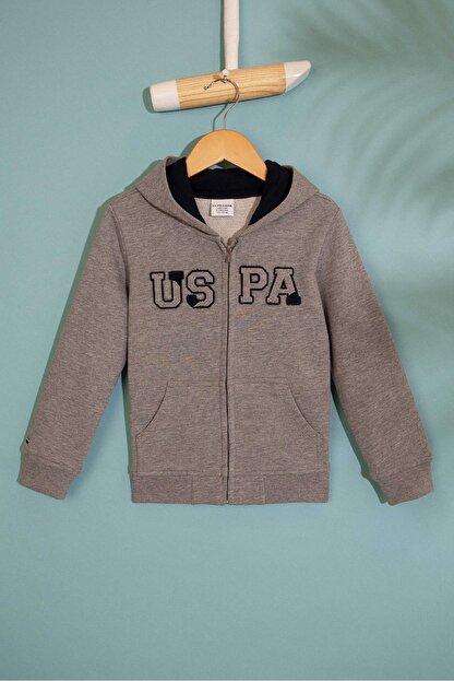 US Polo Assn Grı Erkek Cocuk Sweatshirt