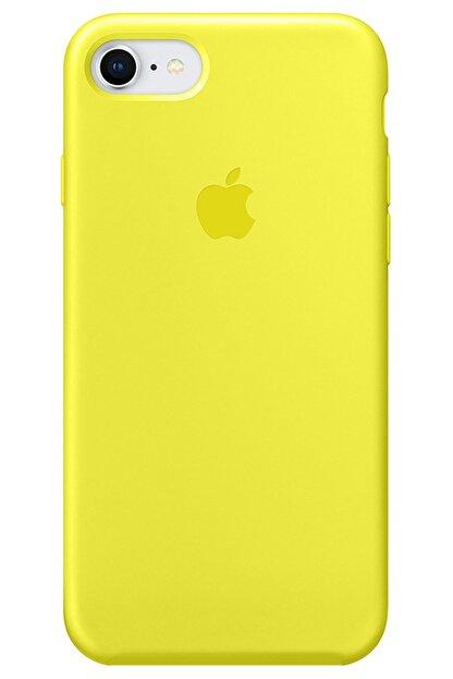 Cekuonline Iphone Se 2020 Logolu Lansman Kılıf Altı Kapalı Iç Kısmı Kadife - Sarı