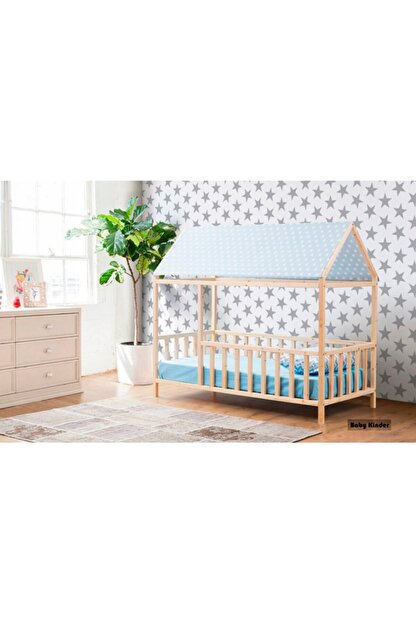 Baby Kinder Roofed Montessori Bebek & Çocuk Karyolası