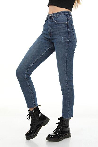 Modanizm Kadın  Mavi Kot Pantolon