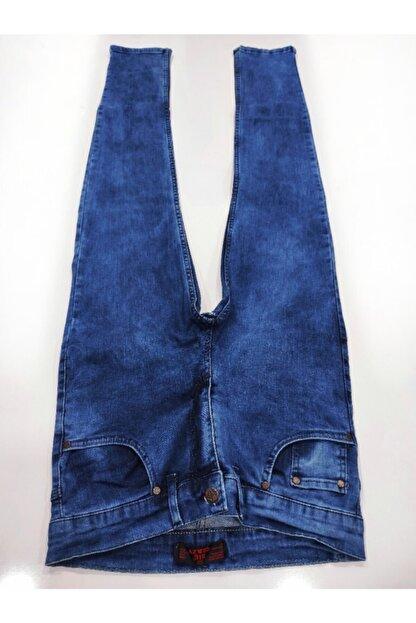 Denim Erkek Mavi Taşlamalı Kot Pantolon