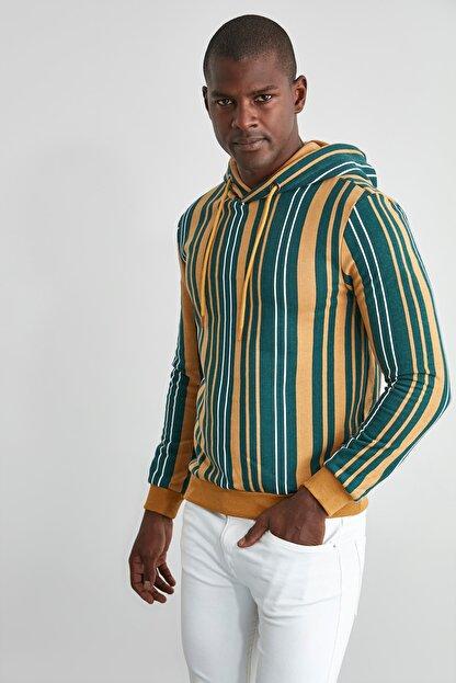 TRENDYOL MAN Hardal Erkek  Sweatshirt TMNAW21SW0996
