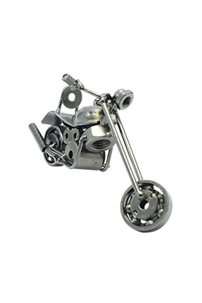 metal obje dokaratif el yapimi motosiklet