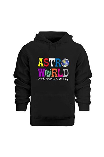 Rafftan Travis Scott Astroworld Baskılı Kapüşonlu Sweatshırt