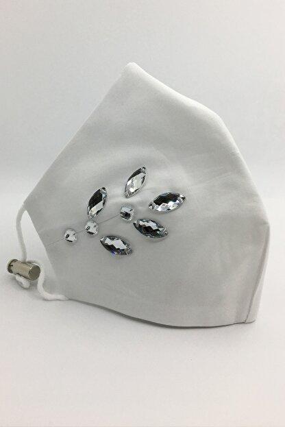 Vera Taşlı Beyaz Maske