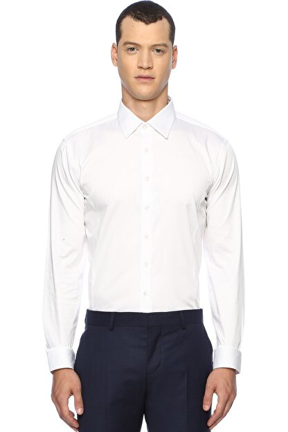 Network Erkek Beyaz Smokin Gömlek 1067462