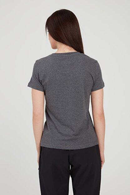 adidas W E LIN SLIM T Koyu Gri Kadın T-Shirt 100546435