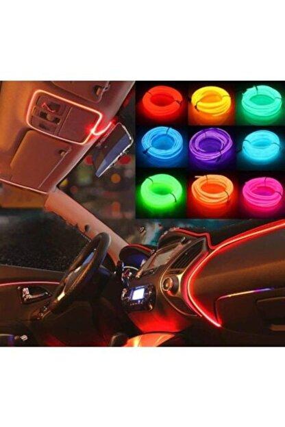 Point Araç Araba Içi Torpido Ledi Renkli Ip Neon Ip Led 2 Metre Turuncu Renk