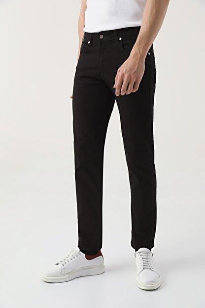D'S Damat Slim Fit Siyah Düz Denim Pantolon