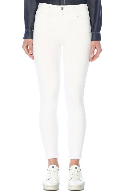 Network Kadın Optik Beyaz Denim Pantolon 1074636