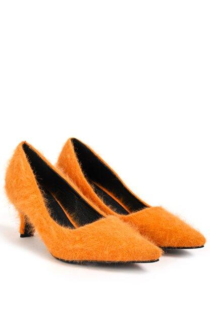 Twist Kadın Turuncu Kısa Topuklu Ayakkabı  TW6200031010
