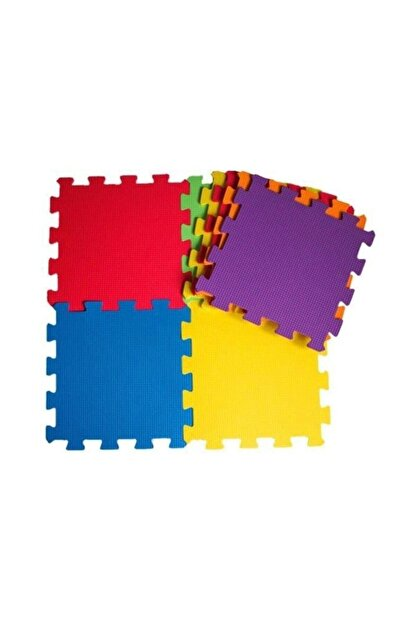 Diger Karakterler Çocuk Oyun Karosu - Eva Puzzle Yer Matı - Renkli /