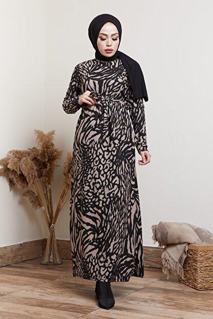 MODAEFA Kadın Siyah  Elbise