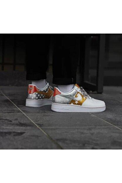 explique perdí mi camino Cumplimiento a  Nike Kadın Beyaz Gri Sneaker Wmns Aır Force 1 '07 / Ct3437-100 | Trendyol