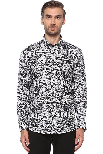 Network Erkek Siyah Beyaz Gömlek 1076237